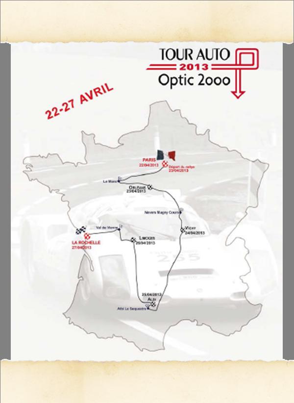 Parcours Tour Auto 2013