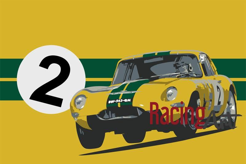 E Type Racing Art