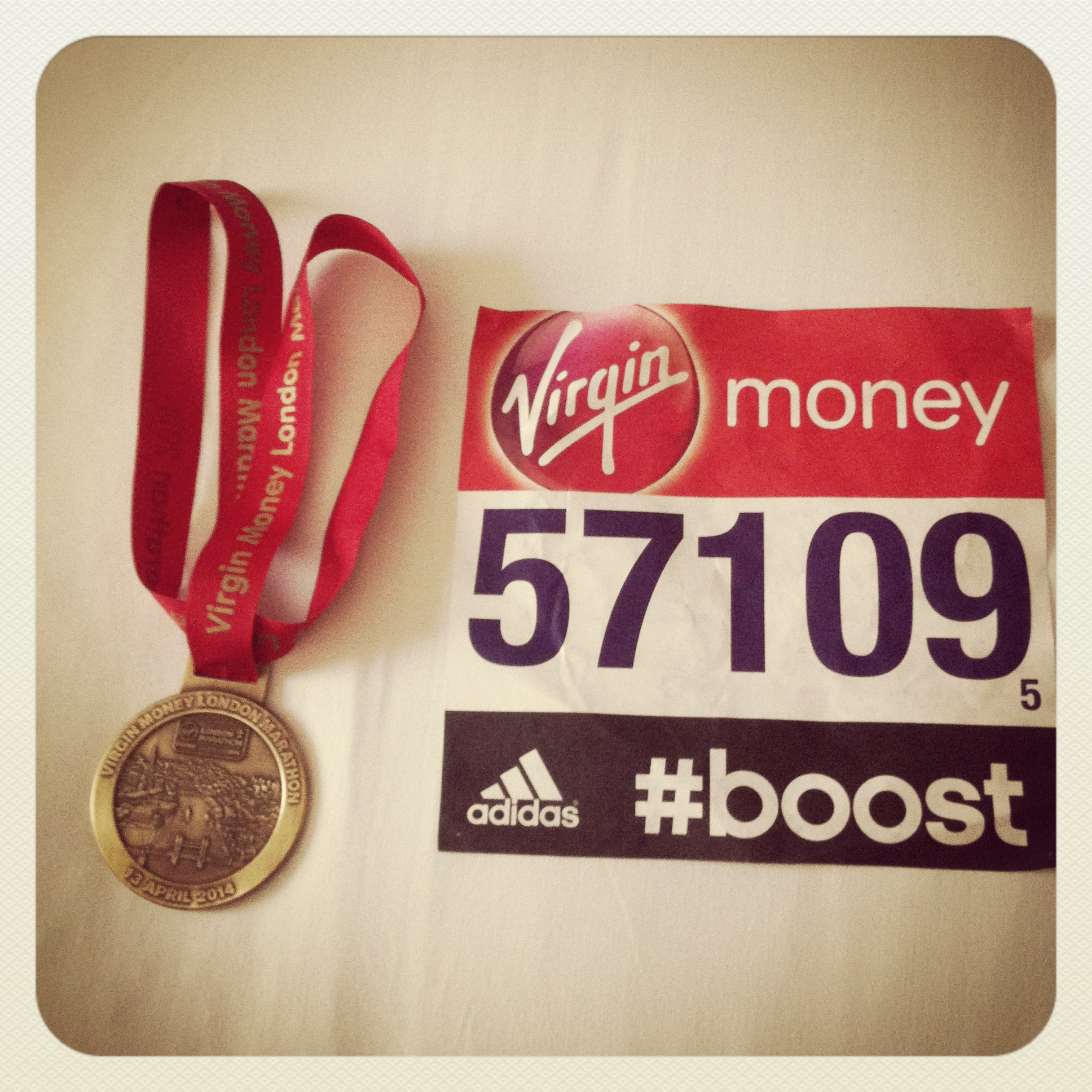 Medaille Marathon London 2014