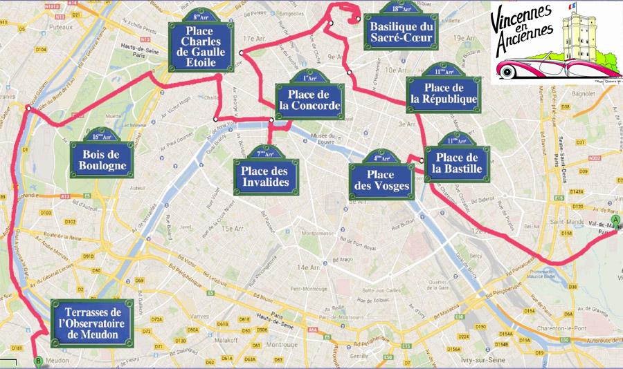Parcours Traversee Paris Estiv 2014