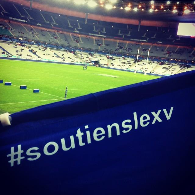 Rugby time au Stade de France, Allez les Bleus #SoutiensleXV #ClubBleus