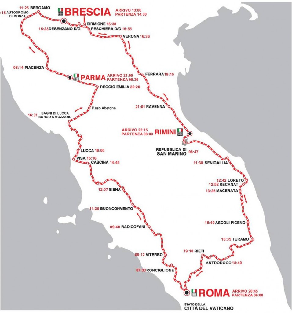 1000 Miglia map