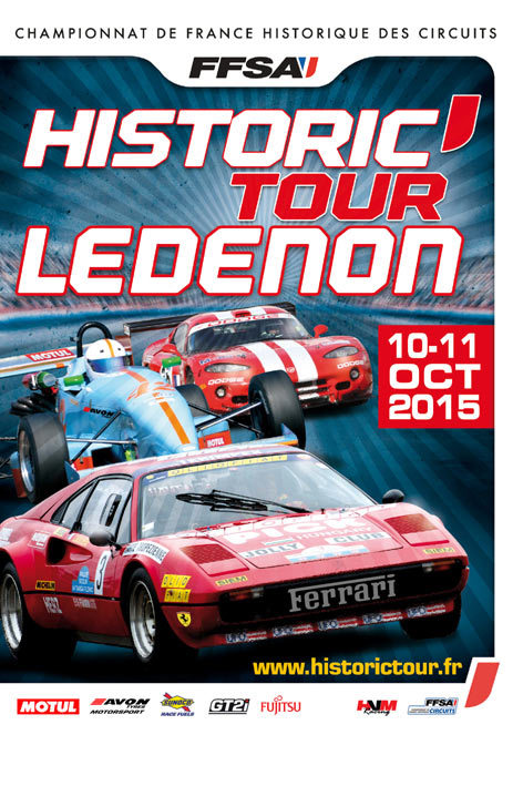 Affiche Historic Tour Ledenon 2015