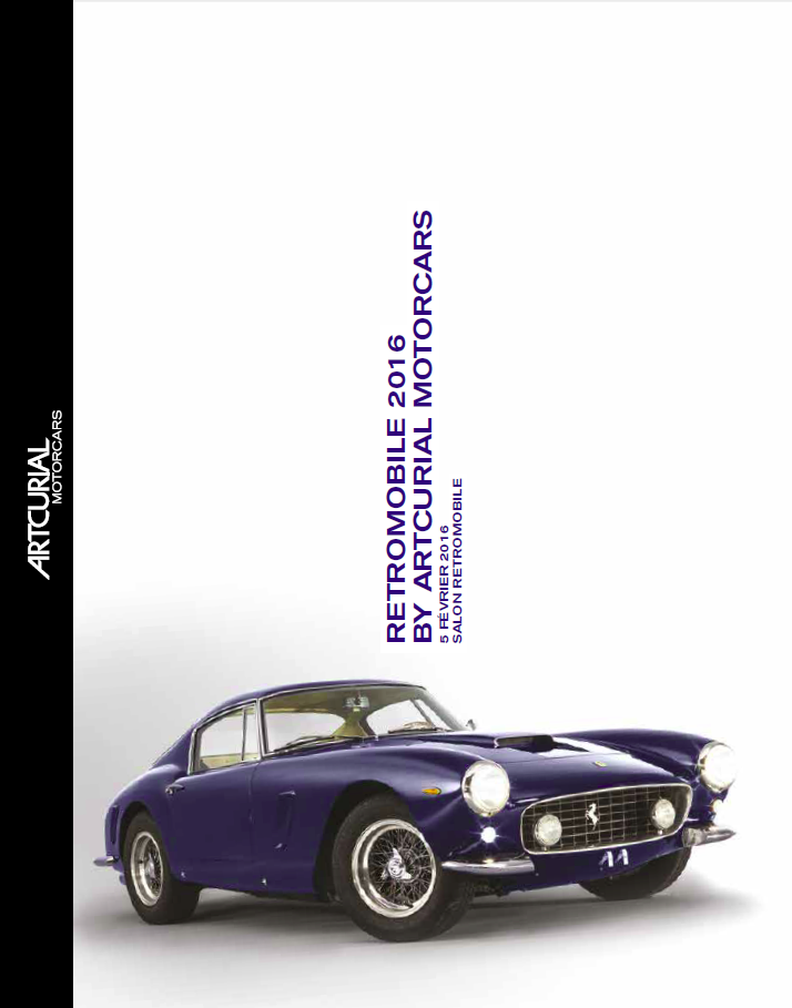 Catalogue Retromobile Artcurial 2016
