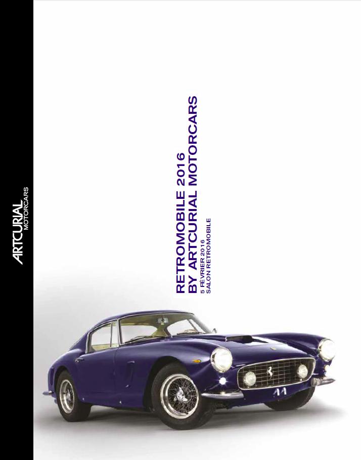 Catalogue Retromobile Artcurial 2016